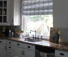 amusing small curtain for modern window treatments on kitchen