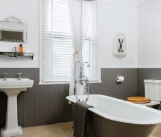 appealing traditional bathroom designs grey and white theme