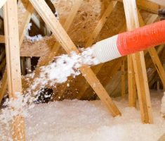 attic insulation blown spray