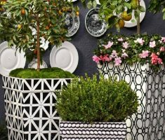 beautiful modern garden pots design pattern