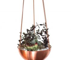 beautifull copper modern garden pots hanging style
