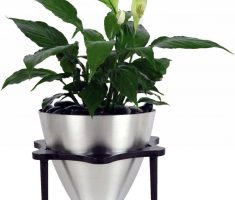 beauty chrome modern garden pots for indoor decor