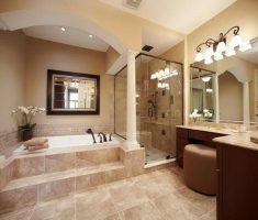 beige traditional bathroom designs