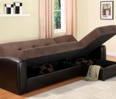 best ergonomic small sofa bed brown with storage