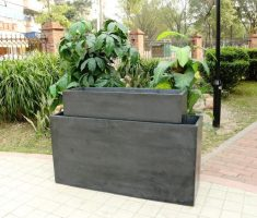 big modern garden pots for outdoor
