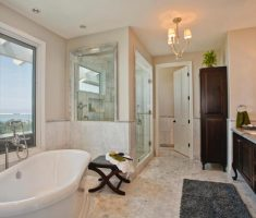 big traditional bathroom designs with marble tiles