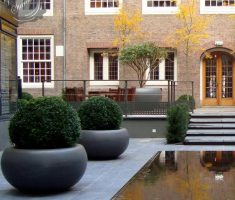 big and large modern garden pots for outdoor exterior
