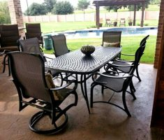 black agio patio furniture