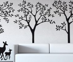 black cherry tree with deers for removable wall decals inspirations