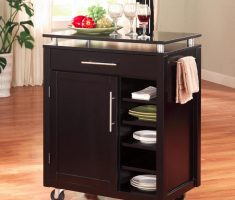 black ikea kitchen island cart