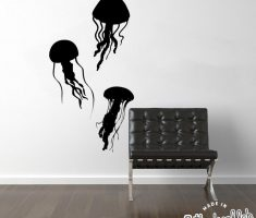 black jellyfish for removable wall decals inspirations