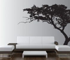 black shadow tree for minimalist removable wall decals inspirations