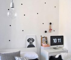 black small polka dot wall decals for teenage room