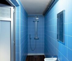 blue bathroom tiles for small space