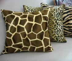brown animal skin throw pillow covers design tiger leopard and cheetah