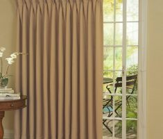 brown ivory curtains for sliding glass doors