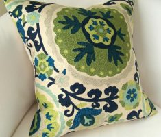 captivating floral throw pillow covers design green theme