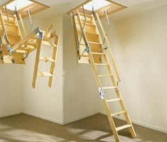 cheap wood pull down attic stairs