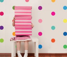 cheerful colors polka dot wall decals