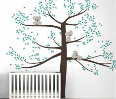 cherry tree with koala for removable wall decals inspirations