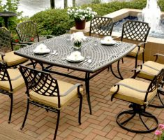 classy agio patio furniture near pool