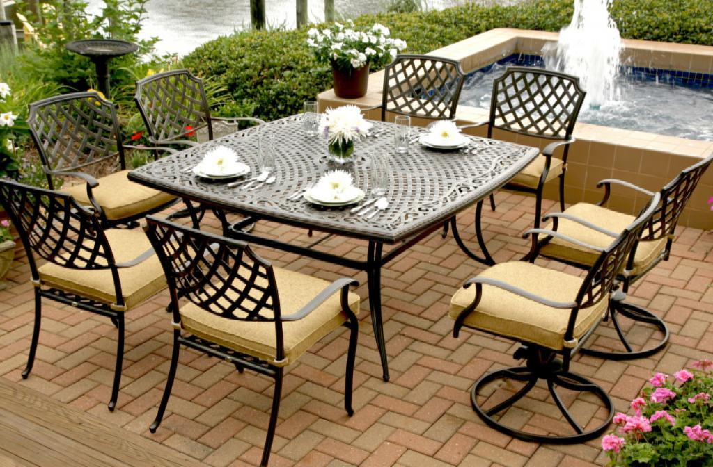 Classy agio patio furniture near pool for Outdoor furniture nearby