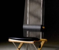 classy unique high back chair with wooden material