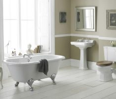 clean traditional bathroom designs