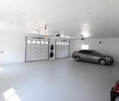 cool epoxy garage floor white theme