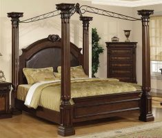 cool wooden canopy beds material