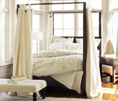 cozy small modern canopy beds