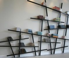 creative unique wall mount shelf design decoraitons for bookshelf