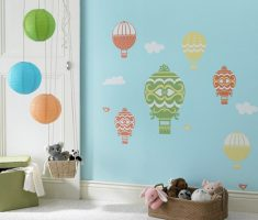cute air ballon cheerfully for removable wall decals inspirations