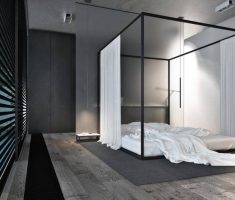 cute black modern canopy beds