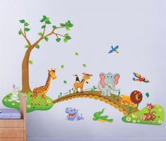 cute funny animals elephant donkey lion birds and girafe removable wall decals inspirations