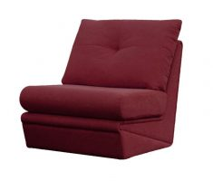 cute maroon single small sofa bed
