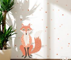 cute orang fox for removable wall decals inspirations