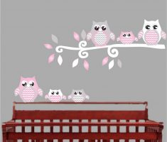 cute owls bird for removable wall decals inspirations