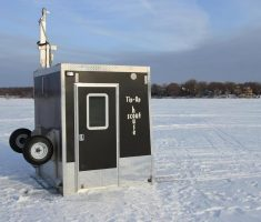 cute portable ice fishing house