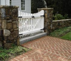 cute tiny white wooden front gate designs for small house