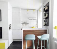 cute very modern small kitchen apartment