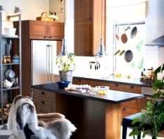 cute very modern small kitchen with island