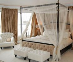 diy canopy beds white curtain
