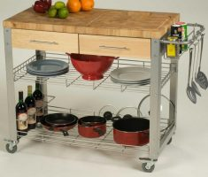 diy kitchen island cart with metal and wooden