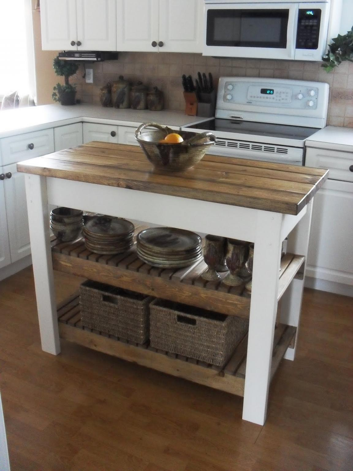kitchen island cart diy diy rustic kitchen island cart wooden materials 5012