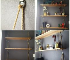 diy wall mount shelf design