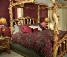 diy wood canopy beds