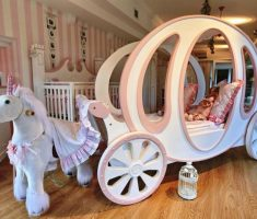 disney princess bedroom carriage and white horse