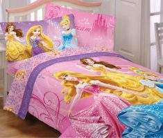 disney princess bedroom pillow and blanket
