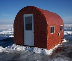 easy ice fishing portable house